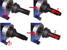 Automatic screwing of quick-release nut